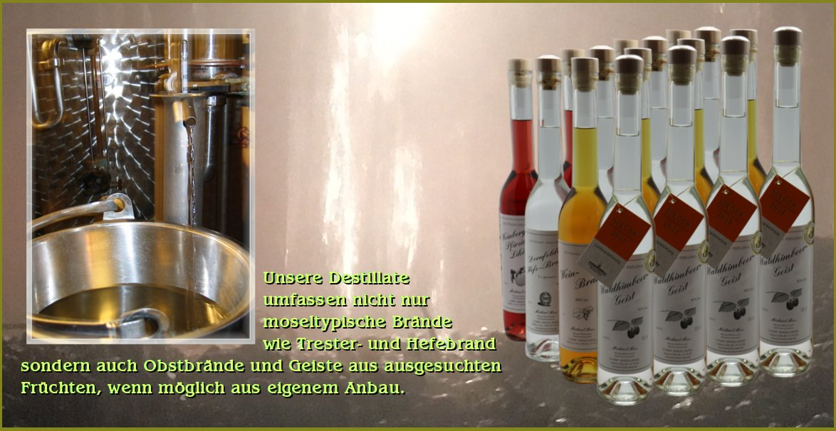 Unsere Destilate